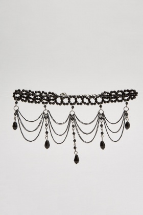 Statement Choker Necklace And Earrings Set