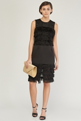 Eyelash Fringed Bodycon Dress