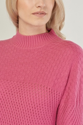 Mix Knit Casual Jumper