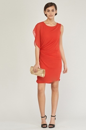 Ruched Front Mini Dress