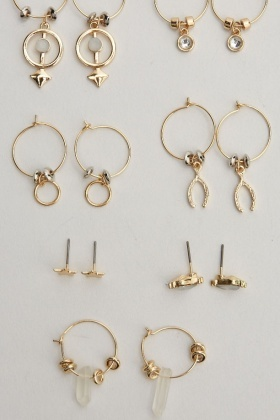 Set Of 7 Earrings Set