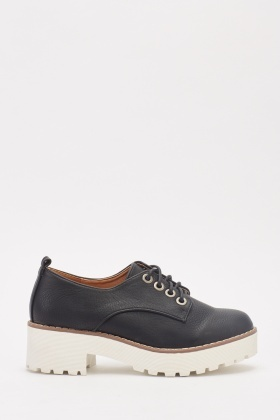 Faux Leather Brogue Shoes