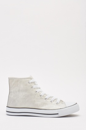 Lurex Lace Up Sneakers