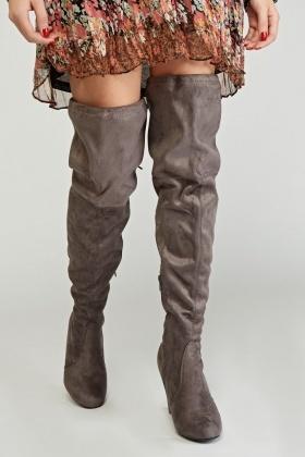 e2d9d90e974 Suedette Thigh High Boots - Just £5