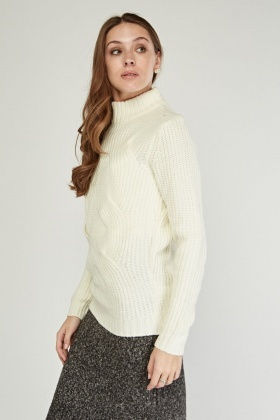Chunky High Neck Knit Jumper