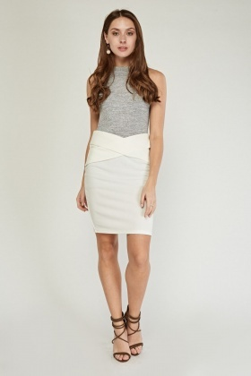 Criss Cross Basic Pencil Skirt