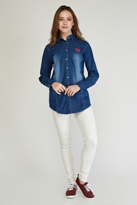 Denim Blue Button Up Shirt