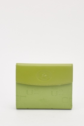 Embossed Flap Purse