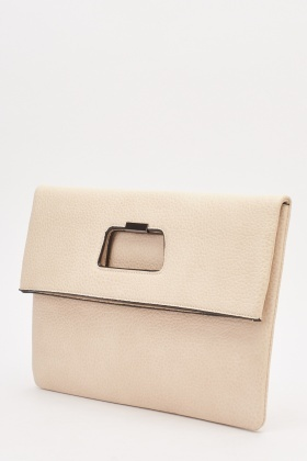 Foldable Textured Clutch Bag