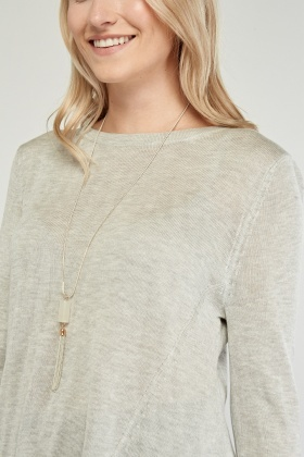Knitted Tie Up Hem Top