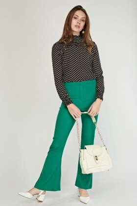 Polka Dot Long Sleeve Blouse