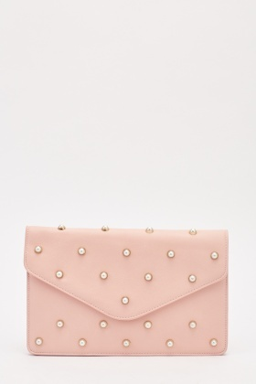 Studded Envelope Clutch Bag