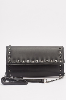 Studded Mini Faux Leather Bag