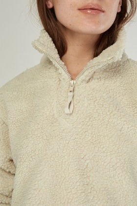 Teddy Fur Zip Up Jacket
