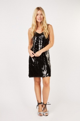Sequin Embellished Mini Dress