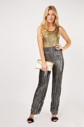 Sleeveless Metallic Top