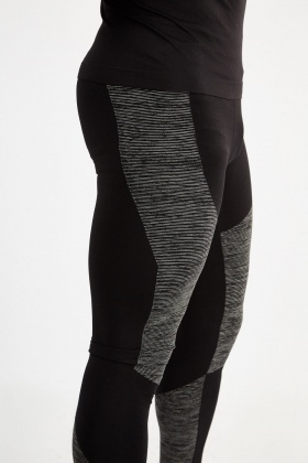 Striped Colour Block Contrast Sports Leggings