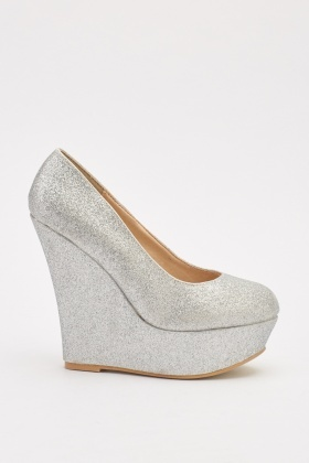 Glittery Wedged Shoes