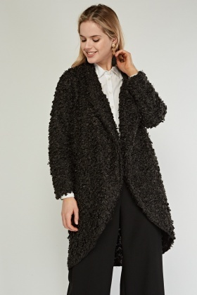 Black Bobble Knit Jacket