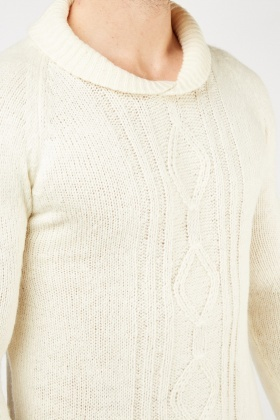 Cable Knit Patterned Jumper