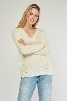 Criss Cross Back Knit Jumper