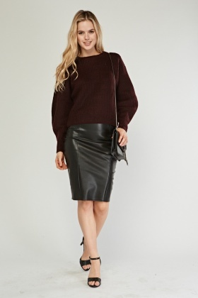 Ribbed Knit Cropped Jumper