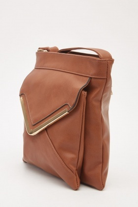 Flap Pocket Front Cross Body Bag