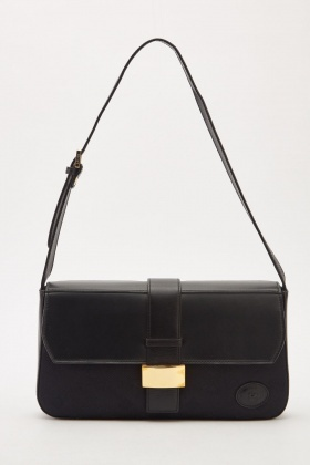 Textured Faux Leather Flap Bag