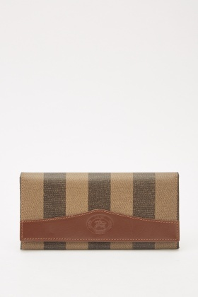 Textured Striped Purse