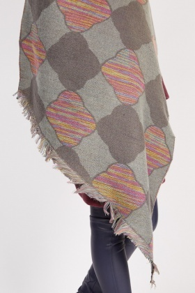 Retro Tile Pattern Scarf