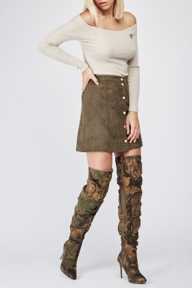 Ruched Over The Knee Boots