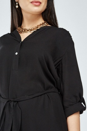Button Front Tunic Dress