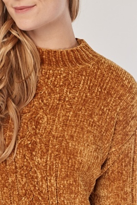 Cable Chenille Knit Jumper