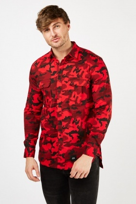 Collared Camo Shirt