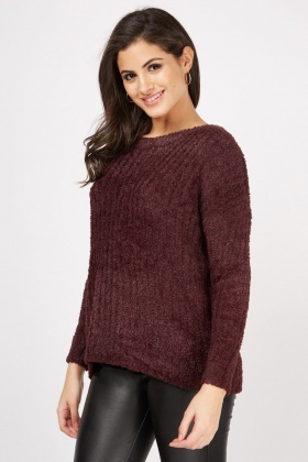 Fluffy Knit Casual Jumper