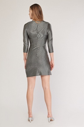 Metallic Textured Bodycon Dress