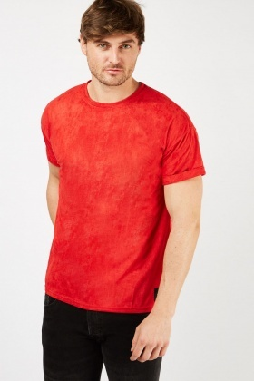 Red Suedette T-Shirt