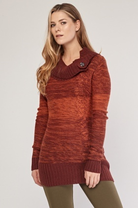 Slouchy Neck Cable Knit Jumper