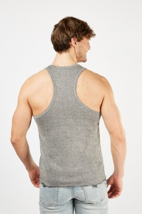 Speckled Raw Hem Vest Top