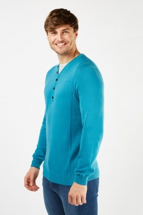 T-Shirt Insert Fine Knit Jumper