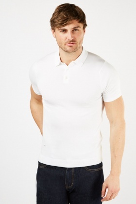 Basic Button Up Polo Shirt