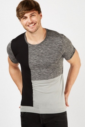 Colour Block Contrasted T-Shirt
