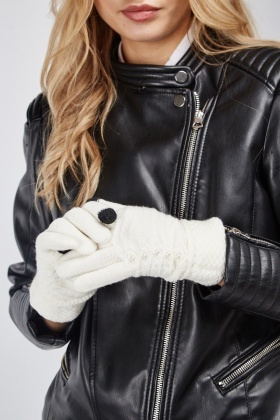 Embellished Touch Screen Gloves