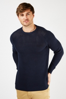 Loose Knit Navy Jumper