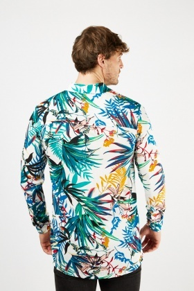 Mixed Tropical Print Shirt