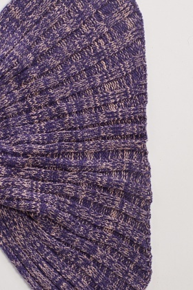 Speckled Purple Mermaid Knit Blanket