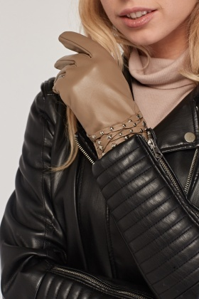 Studded PVC Gloves