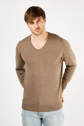V-Neck Thin Knit Jumper