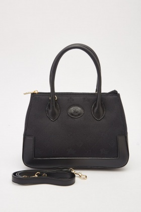 Contrasted Embroidered Handbag