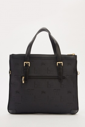 Contrasted Textured Bag